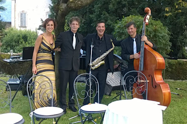 Giulia e i componenti del suo Jazz Quartet